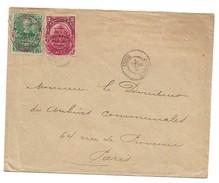 (C02) HAITI - Y&T N° 101+102 - LETTRE - SCOTT #113+114 -  COVER JEREMIE => FRANCE 190? - Haiti