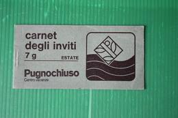 CARNET DEGLI INVITI  - PUGNOCHIUSO - 1974 - Italia