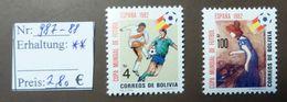 Bolivien   World Soccer  MiNr. 987 -88  Fussball-WM 1982 Spanien MNH ** Postfrisch   #4748 - Wereldkampioenschap