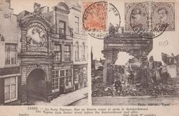 17337# CARTE POSTALE YPRES Obl POSTES MILITAIRE BELGIQUE BELGIE LEGERPOSTERIJ 1916 Au Dos 20 CENSURE MILITAIRE