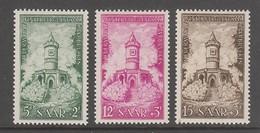 SERIE NEUVE DE SARRE - MONUMENT DE WINTERBERG N° Y&T 355 A 357