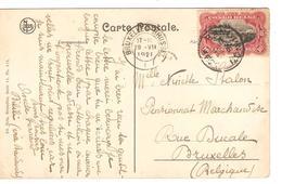 CP Katanga Pose Du Rail écrite De Bilili C.Bandundu 29/5/1920 V.BXL C.d'arrivée 19/7/1920 PR4139 - Congo Belge