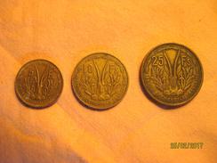 Afrique Occidentale Française Set 5, 10 & 25 Francs 1956 - Colonies
