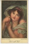 """FEMMES - FRAU - LADY - """"GIRL WITH VEIL """" Par GREUZE - Edit RAPHAEL TUCK - """"Famous Pictures """" - OILETTE - Tuck, Raphael"""