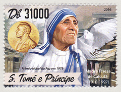 Sao Tome Principe (B11) Nobel Madre Teresa Mother Teresa MNH **.