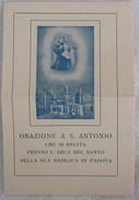 382E/62  SANTINO IMMAGINE PADOVA MAGGIO 1935 ORAZIONE A S. ANTONIO - Santini