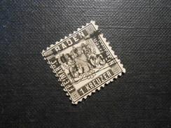 Altdeutschland Baden  Mi 17a - 1Kr - 1864 - Mi € 20,00