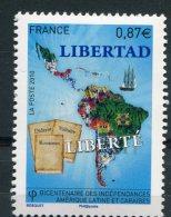 1823  - FRANCE   N° 4527**  Bicentenaire Des Indépendances Amérique Latine Et CaraÏbes     SUPERBE - France