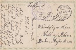 17341# ALLEMAGNE CARTE POSTALE Obl OSSOWIEC 1917 Pour KEHL A/ RHEIN RUSSIE RUSSIA DZIADY Z ODPUSTU