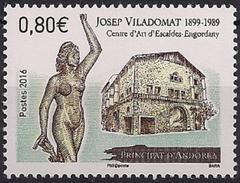 2016 Andora Fr. Mi. 803 **MNH    Frauenskulptur Von Josep Viladomat - French Andorra
