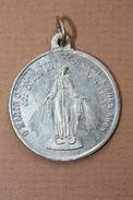 """Rare Pendentif Médaille De Récompense D'école Religieuse """"Ste Marie / Géographie"""" Religious Médal"""