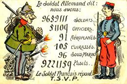 AE 782 / C P A  HUMOUR  MILITAIRE  LE SOLDAT ALLEMAND  LE SOLDAT FRANCAIS - Humour