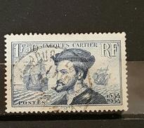 YT 297 - 4ème Centenaire Arrivée J Cartier -  1fr50 - Oblitéré - France