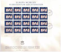 LIECHTENSTEIN - FDC - ANNO 1964 - BUSTONE - EUROPA MCMLXIV - VADUZ AUSGABETAG - FOGLIETTO SU BUSTONE - EUROPA -