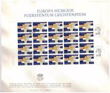 LIECHTENSTEIN - FDC - ANNO 1963 - BUSTONE - EUROPA MCMLXIII - VADUZ AUSGABETAG - FOGLIETTO SU BUSTONE - EUROPA -