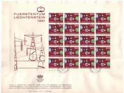 LIECHTENSTEIN - FDC - ANNO 1961 - BUSTONE - FUERSTENTUM LIECHTENSTEIN 1961 - FOGLIETTO SU BUSTONE - VADUZ AUSGADETAG -