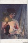 """NU_NUE_NUS_NUDE_NAKED WOMAN-NUDI ARTISTICI-""""Sous La Lampe"""" E.ROSSET-GRANGER Pinxit_Serie N°505-Original D'epoca100% - Malerei & Gemälde"""