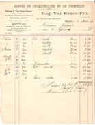 Facture Datée Du 2/3/1906 De E.Van Craen Fils Agences De Charbonnages&de Verreries à Malines PR4144 - 1900 – 1949