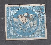 CERES De BORDEAUX N° 46 VARIETE Tache Bleue Obl GC 3858 De STE SAINTE SEVERE Sur INDRE , Indre Ind 7, TB !!!!!!!!
