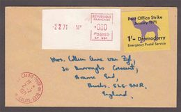 France To Great Britain - 1971 - Post Office Strike 1Sh Dromoderry Emergency Postal Service - 1952-.... (Elizabeth II)