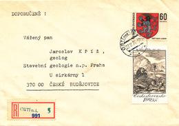 L3089 - Czechoslovakia (1976) Usti Nad Labem 3 (R-letter) Provisional R-label (!), Tariff: 1,60 Kcs
