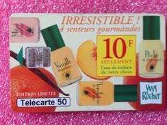 Télécartes IRRERISTIBLE  4 SSENTEURS GOURMANDES De YVES ROCHER - Parfum