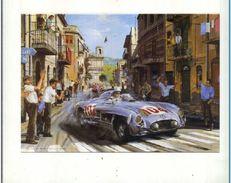 "X NICHOLAS WATTS ""SICILIAN MAGIC"" TARGA FLORIO 1955 MERCEDES MOSS GRAFICA  CARD - Cartoncini Da Visita"