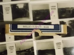 12 Stéréofilms Bruguière Positifs Belle Ile En Mer, Grotte, Route De Locmaria, Port Coton, Port Du Palais, Sauzon ... - Photos Stéréoscopiques
