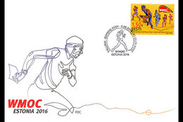 ESTONIA 2016 FIRST DAY COVER Veterans' World Championships In Orienteering