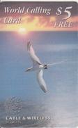 "BERMUDA ISL. - Bird, Bermuda""s Longtail, C & W Promotion Prepaid Card $5(free), Used"