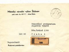 L3096 - Czechoslovakia (1976) Sluknov (R-letter) Provisional R-label (print 1945/47 !); Tariff: A Prepaid Postage