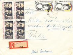 L3097 - Czechoslovakia (1975) 407 82 Dolni Poustevna (R-letter) Provisional R-label (bianco Print Germany/Sudeten 1940/5