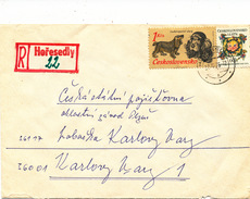 L3098 - Czechoslovakia (1976) Horesedly (R-letter) Provisional R-label/postmark; Tariff: 1,60 Kcs