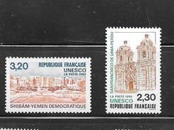 OA 8094 / FRANCE 1990 Yvert 102 à 103 ** - UNESCO Patrimoine Universel - Service