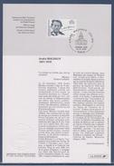 Encart Triple Et Document 1er Jour André Malraux Au Panthéon Paris 23.11.96, - Abarten Und Kuriositäten