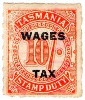 (I.B) Australia - Tasmania Revenue : Wages Tax 10/- (1935)