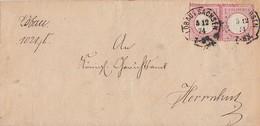 DR Brief Mef Minr.2x 19 K1 Löbau 3.12.74 Gelaufen Nach Herrnhut - Briefe U. Dokumente