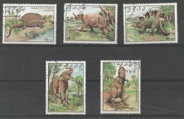 Animaux Préhistoriques - Megalosaurus - Deinotherium - Stegos.- Edaphos.- Arsinotherium