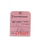 Etiquette De Bagages OAYMNIAKH OA 479007 Sans Ficelle D'attache - Étiquettes à Bagages