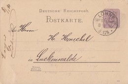 DR Ganzsache KOS Löhne (Westfalen) 8.1.90