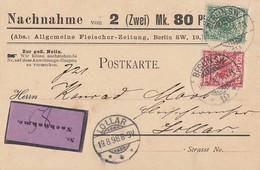 DR NN-Karte Mif Minr.46, 47 Berlin 18.8.98 Gelaufen Nach Lollar