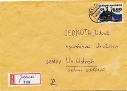 L3099 - Czechoslovakia (1976) Jalubi (R-letter) Provisional R-label (written Text !); Tariff: 1,60 Kcs