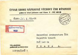 L3100 - Czechoslovakia (1976) Jablonec Nad Nisou 5 (R-letter) Provisional R-label (written Text !)