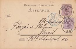 DR Ganzsache Zfr. Minr.40 K1 Metz 1.5.89 Gelaufen Nach Paris