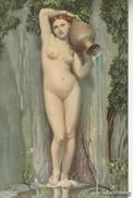 "NU_NUE_NUS_NUDE_NAKED WOMAN-NUDI ARTISTICI-""La Sorgente"" ... Pinxit_Serie N°20030-Original D'epoca100%- - Pintura & Cuadros"