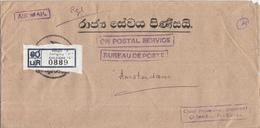 "Sri Lanka - Recommandé/Registered Letter/Einschreiben - Colombo ""C"" - Sri Lanka (Ceylon) (1948-...)"