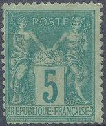 Stamp France 1976 5c Tip2 Mint Lot#15 - 1876-1878 Sage (Type I)