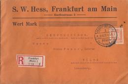DR R-Brief EF Minr.361 Frankfurt 18.6.27 Gelaufen Nach Luxemburg