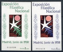 ESPAÑA   Nº 1222 /23  Sin Charnela -38 - 1951-60 Nuovi