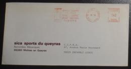 Lettre EMA P03628 Station Village été-hiver 18-01-1982 Molines-en-Queyras 05 _ Ski Montagne Alpes Remontées Mécaniques - Marcophilie (Lettres)